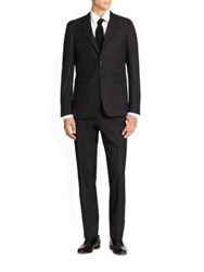 Burberry Millbank Modern Wool And Cashmere Suit Navy Black