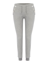 Zoe Karssen Slim Fit Button Detail Jogger Grey