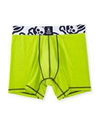 Psycho Bunny Power Short Performance Boxer Briefs Macaw Green
