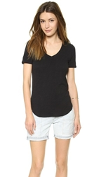 Atm Anthony Thomas Melillo V Neck Tee Black