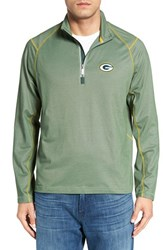 Tommy Bahama Men's 'Nfl Double Eagle' Quarter Zip Pullover Packers