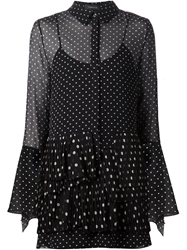 Thakoon Polka Dot Frilled Shirt Dress