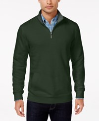 Club Room Men's Big And Tall Quarter Zip Sweater Only At Macy's Duffel Bag