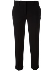 Aspesi Slim Fit Cropped Trousers Black
