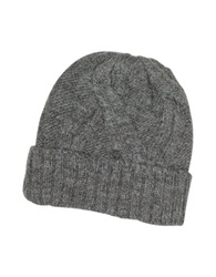Paul Smith Men's Cable Knit Wool And Alpaca Beanie Hat Rust