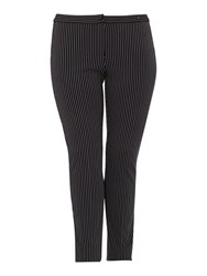 Persona Plus Size Renato Pinstripe Stretch Trouser Navy