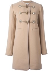 Carven Duffle Mid Coat Nude And Neutrals