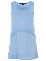 French Connection Polly Plains Sleeveless Top Vista Blue