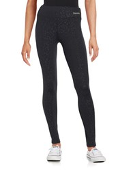 Bench Print Textured Performance Leggings Jet Black