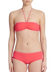 Marc By Marc Jacobs Billie Shirred Bandeau Bikini Top Pink