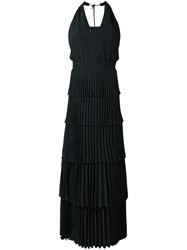 N 21 No21 Tiered V Neck Dress Black