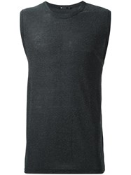 Alexander Wang T By Sleeveless T Shirt Grey