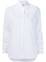 Rosie Assoulin Ruched Sleeves Shirt White