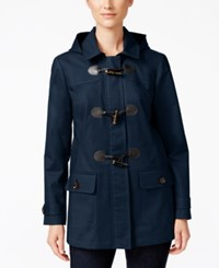 Charter Club Hooded Toggle Coat Only At Macy's Intrepid Blue