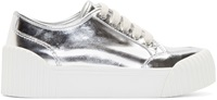 Marc By Marc Jacobs Silver Platform Riley Sneakers