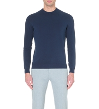 Slowear Crew Neck Knitted Jumper Navy