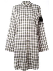 Alyx Checked Shirt Dress Yellow And Orange