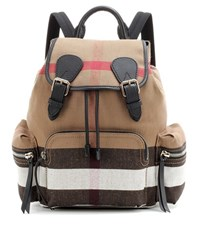 Burberry The Medium Canvas Backpack Beige