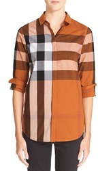 Women's Burberry Brit Large Check Cotton Shirt