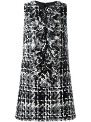 Dolce And Gabbana Tweed Dress Black