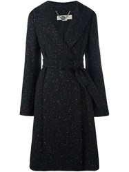 Stella Mccartney Speckled Knit Coat Black