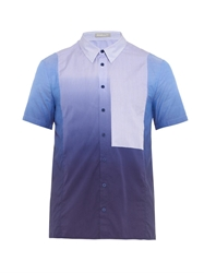 Richard Nicoll Striped Panel Shibori Print Shirt