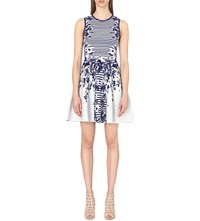 Karen Millen Floral Jacquard Knit Dress Multi Coloured