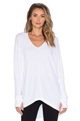 Sen Grace V Neck Sweater White