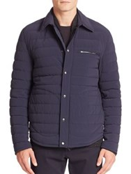 Vince Long Sleeve Quilted Jacket Coastal Blue