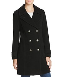 Marc New York Pandora Military Double Breasted Button Front Coat Black