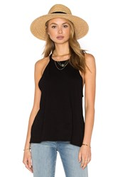 Michael Lauren Cactus High Neck Tank Black