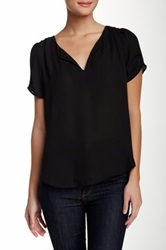Daniel Rainn Pinched Sleeve Blouse Black
