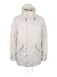 Topman Bellfield Off White And Black Parka Cream