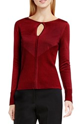Vince Camuto Women's Keyhole Sweater Malbec Red