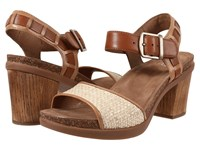 Dansko Debby Taupe Full Grain Raffia Women's Sandals Tan