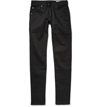 Rag And Bone One Skinny Fit Selvedge Denim Jeans Black