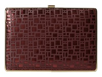 Ivanka Trump Ivanka Box Minaudieres Berry Clutch Handbags Burgundy