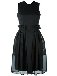 Comme Des Garcons Noir Kei Ninomiya Full Skirt Dress Black