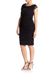 Fuzzi Plus Size Convertible Ruched Dress Black