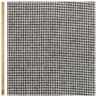 Unbranded Houndstooth Tweed Fabric Black White