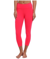 Beyond Yoga Seamed Pocket Legging Neon Berry Women's Workout Multi