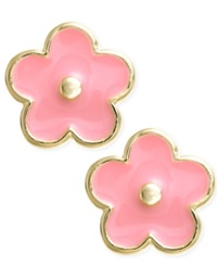 Lily Nily Children's 18K Gold Over Sterling Silver Earrings Enamel Flower Stud Earrings