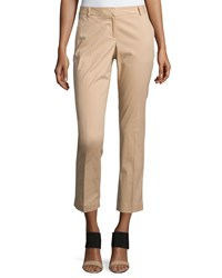 Laundry By Shelli Segal Straight Leg Cropped Pants Tan