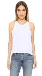 Enza Costa Cropped Tank White