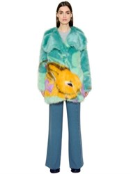 Marco De Vincenzo Pop Faux Fur Short Coat