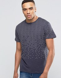 Bellfield T Shirt With Geo Print Navy