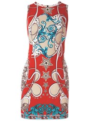 Versace Collection Baroque Fitted Dress Multicolour