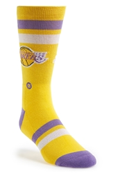 Stance 'L.A. Lakers' Socks Yellow
