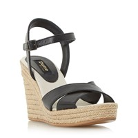 Dune Kilburn Cross Vamp Platform Shoes Black
