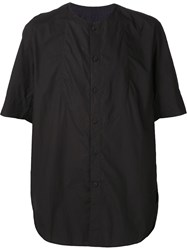 Ziggy Chen Collarless Shirt Black